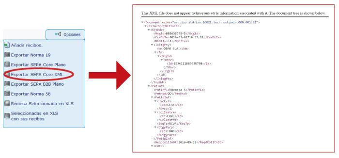 A partir de hoy es obligatorio la emisión de recibos en formato SEPA XML